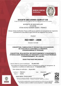 Certificat ISO 9001-2008 - Expire 2018