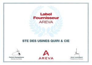 Quiri - Label fournisseur Areva