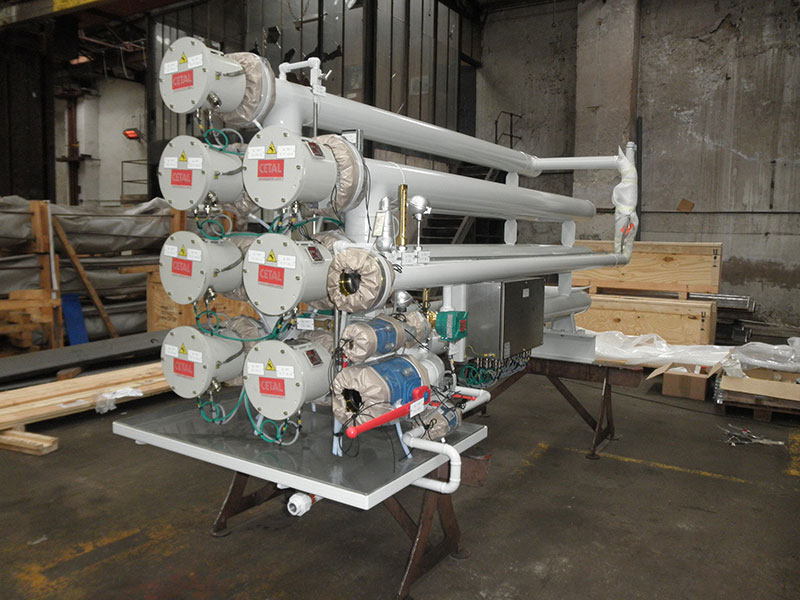 Electrical fuel heater - Electric heaters, skids and special equipments - Quiri - 3