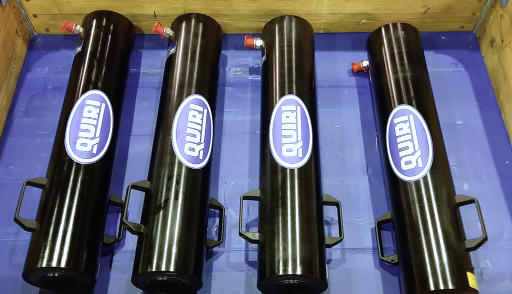 Vérin creux 700 bar QCP 36/400 en alliage léger et grande course - Outillage Levage - Quiri